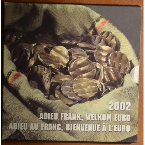 Súbor 8 mincí Belgicko 2002 + franky (BU)