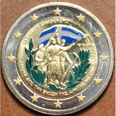 2 Euro Grécko 2013 - 100 rokov únie s Krétou II. (farebná UNC)