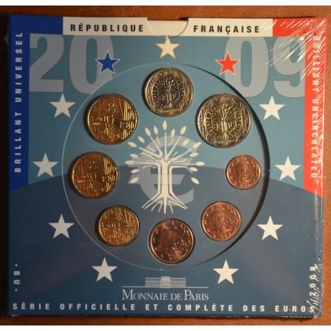 Súbor 8 Francúzskych mincí 2009 (BU)