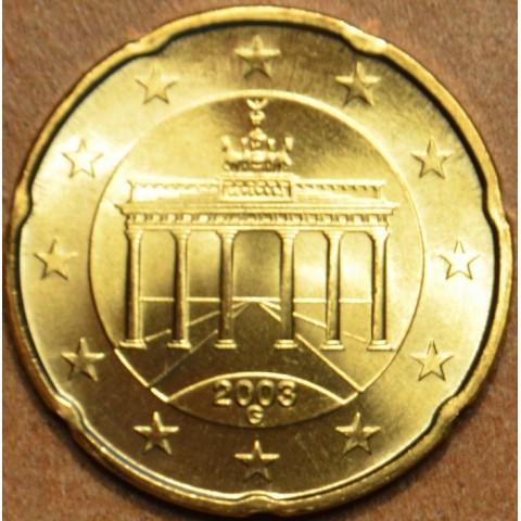 """20 cent Nemecko """"G"""" 2003 (UNC)"""