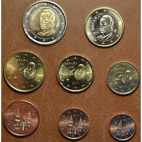 Sada 8 mincí Španielsko 2011 (UNC)