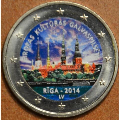2 Euro Lotyšsko 2014 - Riga Európske mesto kultúry II. (farebná UNC)
