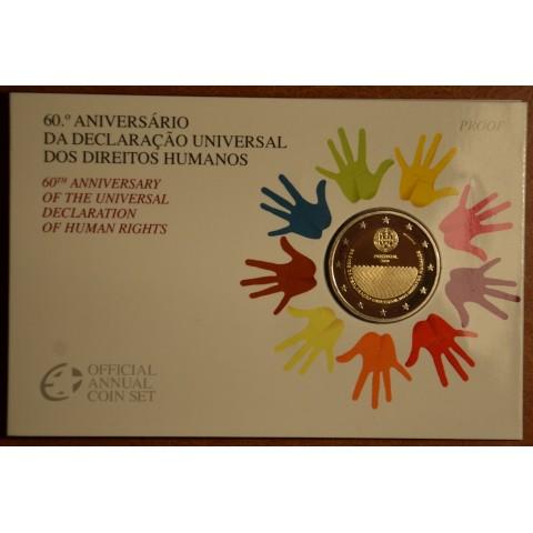 2 Euro Portugalsko 2008 - 60. výročie Všeobecnej deklarácie ľudských práv (Proof)