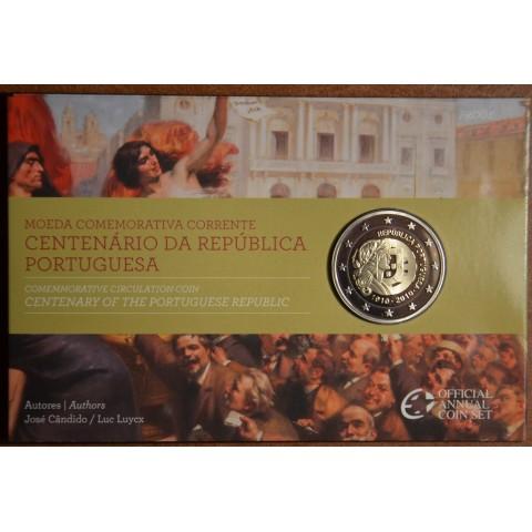 2 Euro Portugalsko 2010 - 100. výročie Portugalskej republiky (Proof)