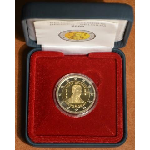 2 Euro Belgicko 2009 - 200. výročie narodenia Louisa Brailla (Proof)