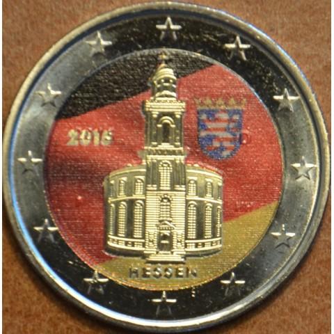 2 Euro Nemecko 2015 - Hessen: kostoľ sv. Pavla II. (farebná UNC)