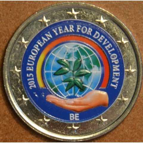 2 Euro Belgicko 2015 - Európsky rok rozvoja II. (farebná UNC)