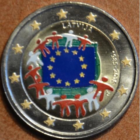 2 Euro Lotyšsko 2015 - 30 rokov Europskej vlajky  (farebná UNC)