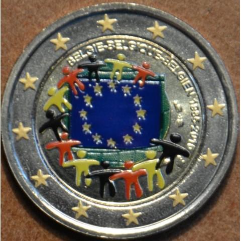 2 Euro Belgicko 2015 - 30 rokov Europskej vlajky  (farebná UNC)