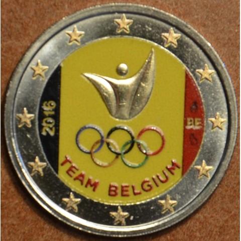 2 Euro Belgicko 2016 - Olympijský team Belgicka  (farebná UNC)