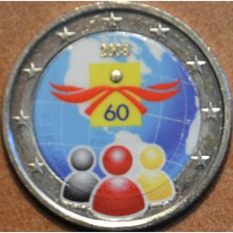 2 Euro Belgicko 2008 - 60. výročie Všeobecnej deklarácie ľudských práv II. (farebná UNC)