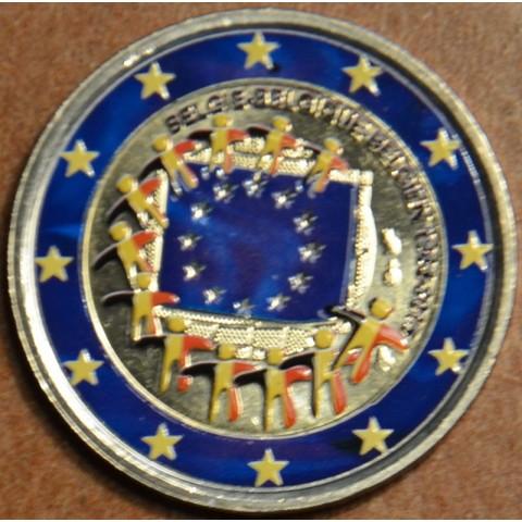 2 Euro Belgicko 2015 - 30 rokov Europskej vlajky II. (farebná UNC)