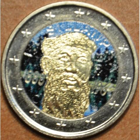 2 Euro Fínsko 2013 - 125. výročie narodenia Frans Eemil Sillanpaa IV. (farebná UNC)