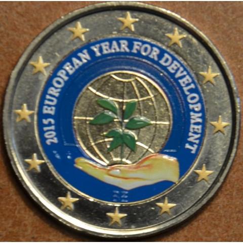 2 Euro Belgicko 2015 - Európsky rok rozvoja III. (farebná UNC)