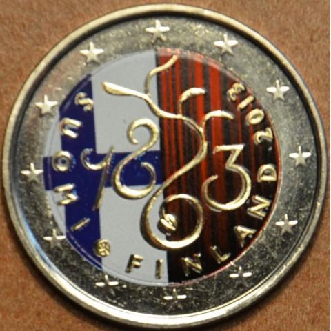 2 Euro Fínsko 2013 - 150. výročie Parlamentu 1863 IV.  (farebná UNC)