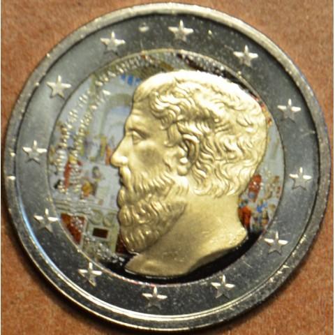 2 Euro Grécko 2013 - 2400 rokov Platónovej Akadémie II. (farebná UNC)