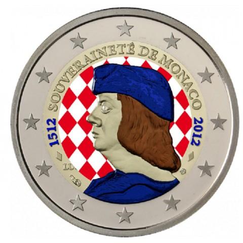 2 Euro Monaco 2012 - 500. výročie nezávislosti (farebná UNC)