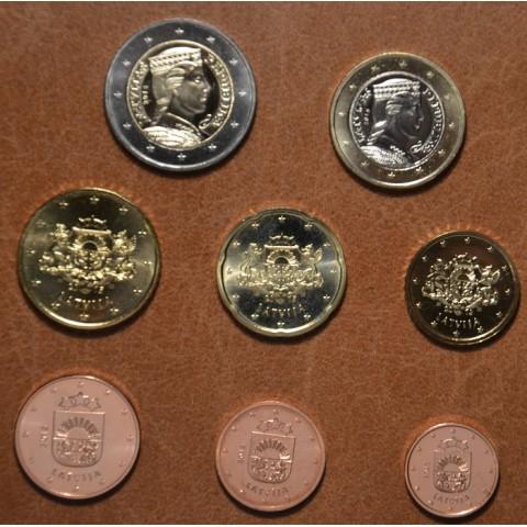 Sada 8 euromincí Lotyšsko 2015 (UNC)