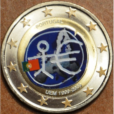 2 Euro Portugalsko 2009 - 10. výročie hospodárskej a menovej únie  (farebná UNC)