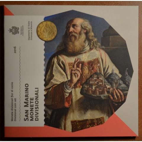 Sada 8 euromincí San Marino 2016 (BU)