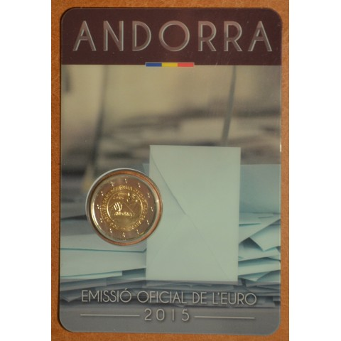2 Euro Andorra 2015 - 30. výročie stanovenia veku plnoletosti (BU)