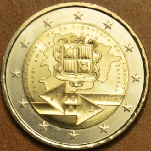 2 Euro Andorra 2015 - 25. výročie colnej dohody s EU (UNC)