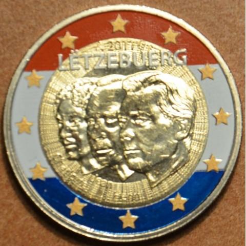 2 Euro Luxembursko 2011 - 50. výročie vymenovania Jeana II. (farebná UNC)