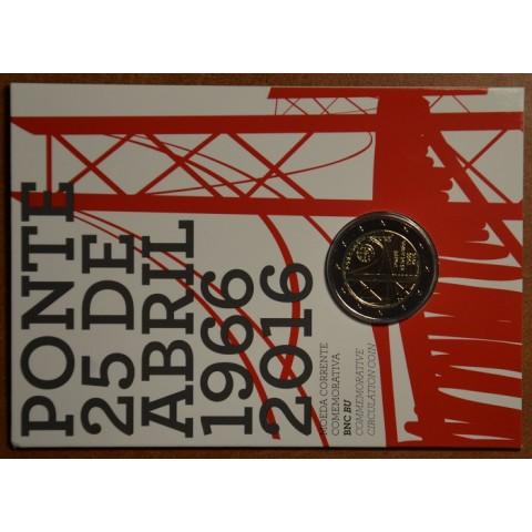 2 Euro Portugalsko 2016 - 50 rokov od vybudovania prvého mostu spájajúceho oba brehy rieky Tejo (BU karta)