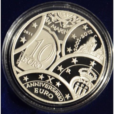 10 Euro San Marino 2011 - 10 rokov meny Euro (Proof)