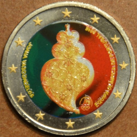2 Euro Portugal 2016 - Olympic team of Portugal III. (colored UNC)