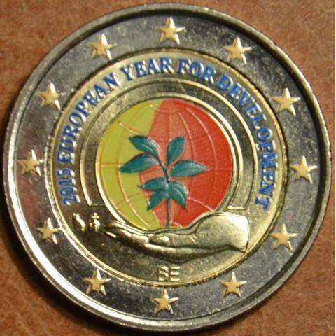 2 Euro Belgicko 2015 - Európsky rok rozvoja (farebná UNC)