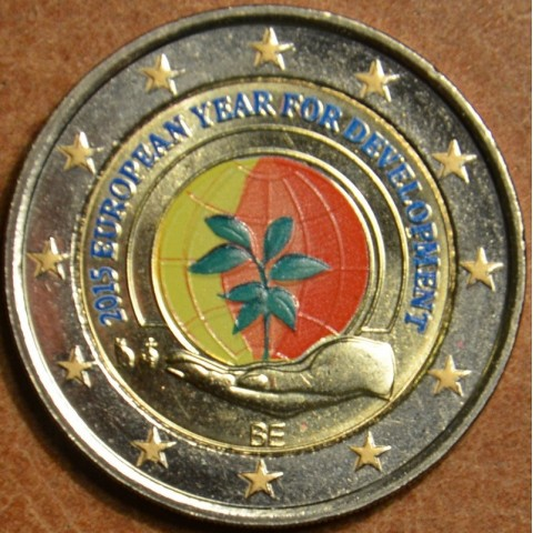 2 Euro Belgium 2015 - European Year for Development  (colored UNC)