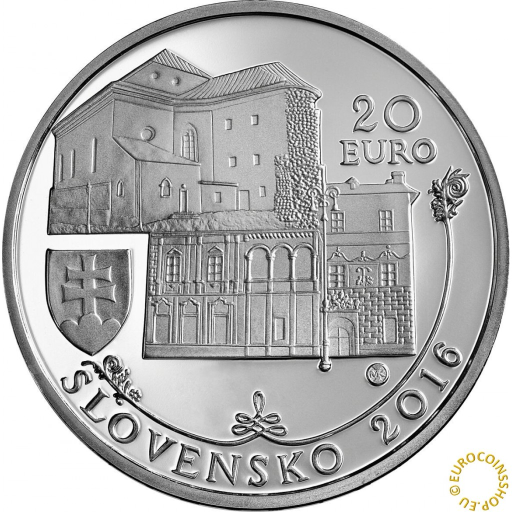 Banska Bystrica Slovakia  city images : Silver and gold coins > 20 Euro Slovakia 2016 Banská Bystrica BU