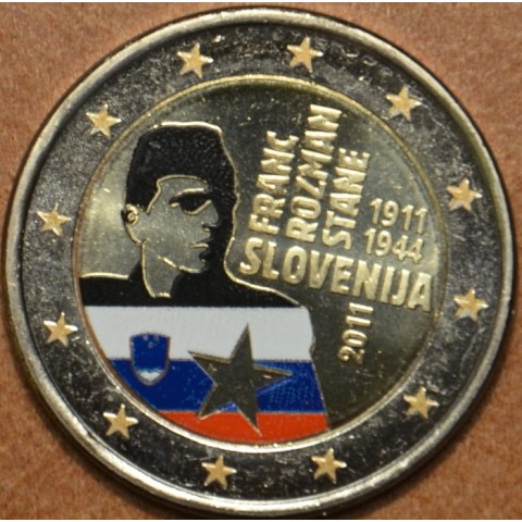 2 Euro Slovinsko 2011 - 100. výročie narodenia Franca Rozmana III. (farebná UNC)