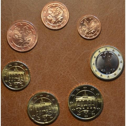 """Sada 7 nemeckých mincí 2015 """"J"""" (UNC)"""