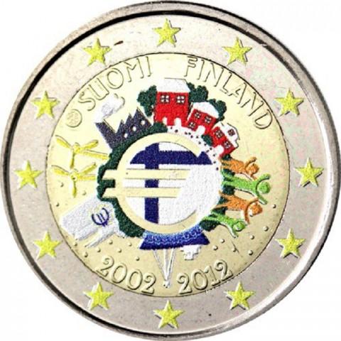 2 Euro Fínsko 2012 - 10. výročia vzniku Eura II.  (farebná UNC)