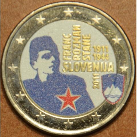 2 Euro Slovinsko 2011 - 100. výročie narodenia Franca Rozmana IV. (farebná UNC)