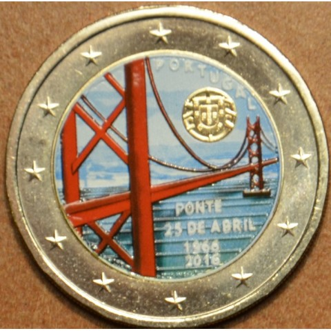2 Euro Portugal 2016 - 50 years of the first bridge uniting the two riverbanks of the Tejo River III. (colored UNC)