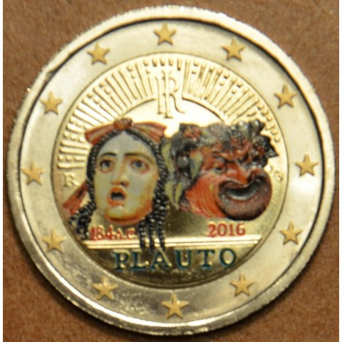 2 Euro Italy 2016 - 2200th anniversary of the death of Plautus III.  (colored UNC)