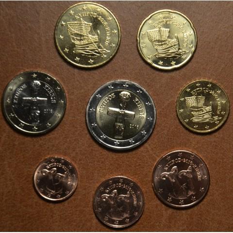 Sada 8 euromincí Cyprus 2016 (UNC)