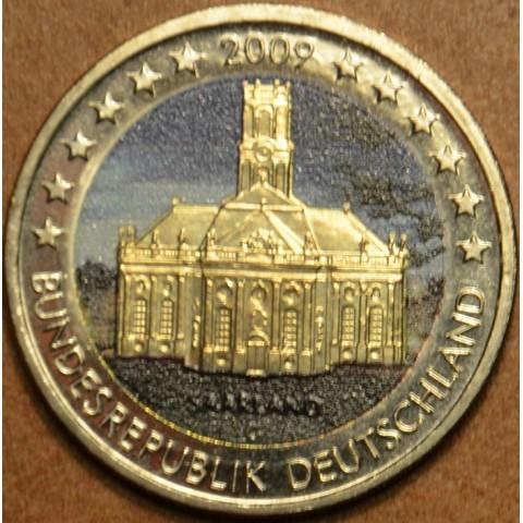 2 Euro Nemecko 2009 - Sársko: Kostol Ludwigskirche II.  (farebná UNC)