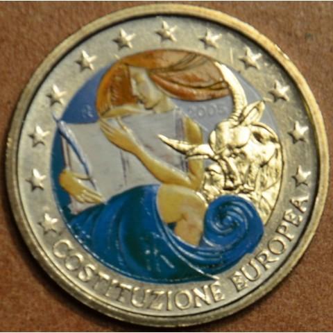 2 Euro Taliansko 2005 - 1. výročie podpísania Európskej ústavy II. (farebná UNC)