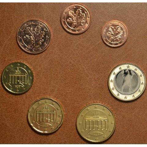 """Sada 7 nemeckých mincí 2012 """"D"""" (UNC)"""
