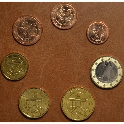 """Sada 7 nemeckých mincí 2009 """"J"""" (UNC)"""