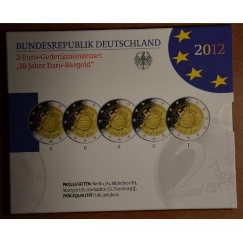 2 Euro Nemecko 2012 - 10. výročia vzniku Eura (Proof)