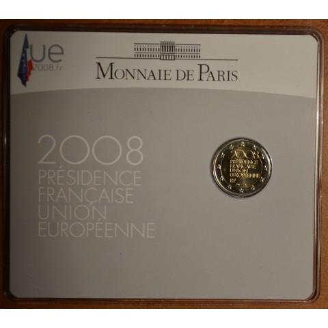 2 Euro Francúzsko 2008 - Predsedníctvo EÚ (BU karta)