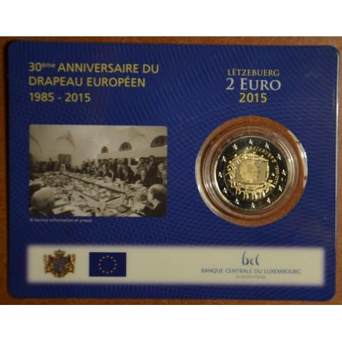 2 Euro Luxembursko 2015 - 30 rokov Europskej vlajky  (BU karta)