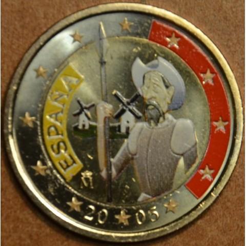 2 Euro Španielsko 2005 - 400 rokov od vydania románu Don Quijote III. (farebná UNC)