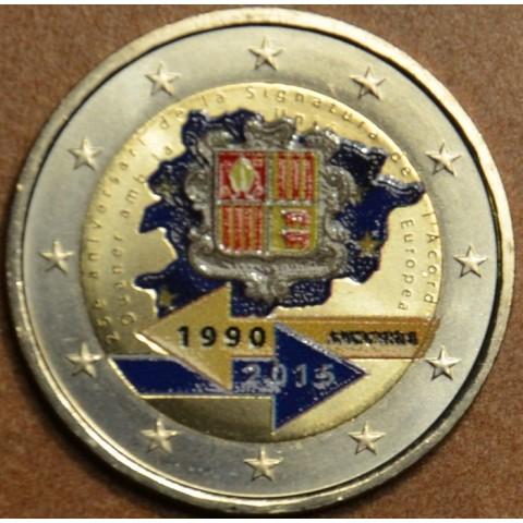2 Euro Andorra 2015 - 25. výročie colnej dohody s EU II. (farebná UNC)