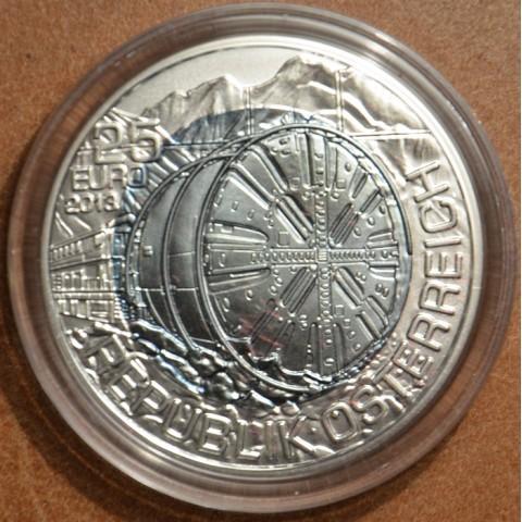 25 Euro Rakúsko 2013 - strieborná niobium minca Tunnelbau